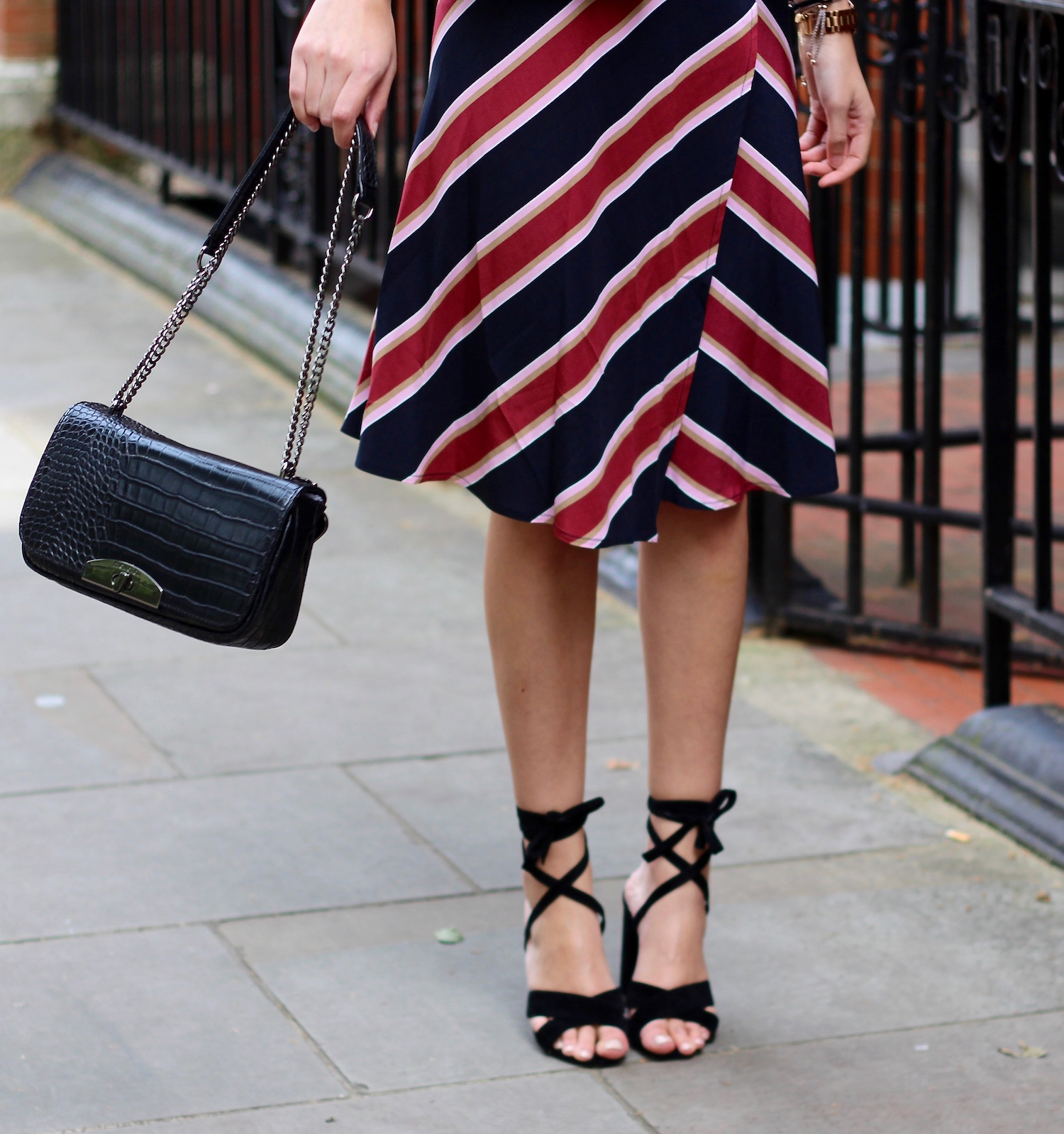 lace up shoes croc bag peexo spring trends