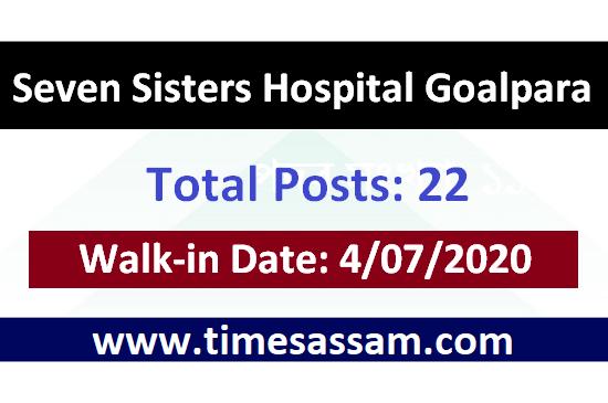 Seven Sisters Hospital Goalpara Job 2020