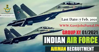 Indian Air Force Airmen Vacancy 2021
