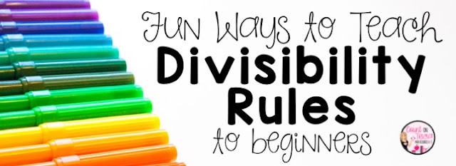Fun ways to Teach Divisibility Rules to Fourth Grade Math and Fifth Grade Math kids