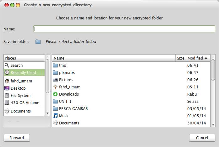 Memproteksi folder di linux mint