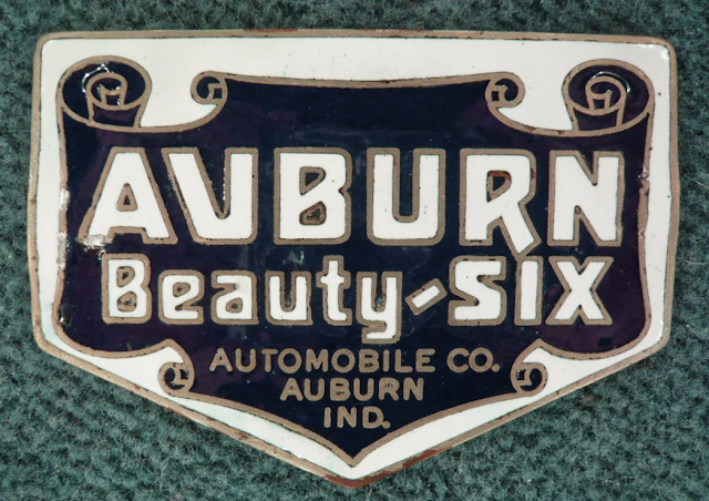 Auburn Beauty-Six radiator emblem