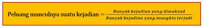 Materi Peluang Matematika dan Rumus Peluang SMP 3