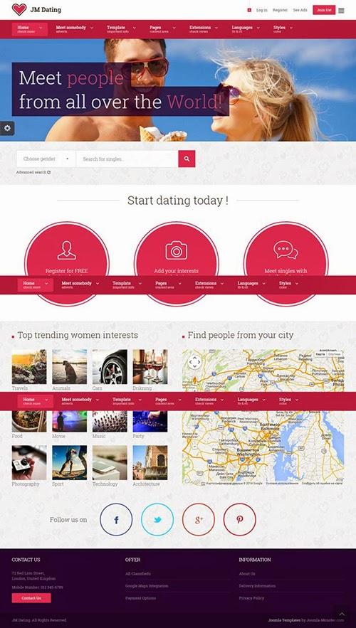 Ph7 social dating cms templates