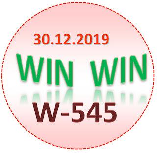 Kerala Lottery Result Win Win W-545 30.12.2019