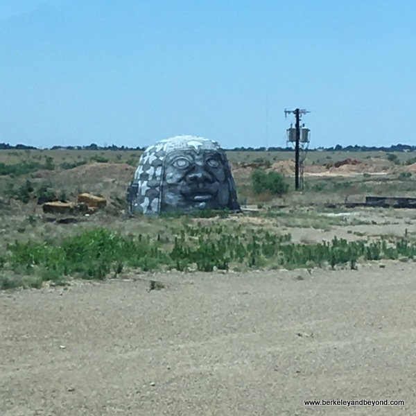 Big Art installation at Mariposa eco village in Amarillo, Texas