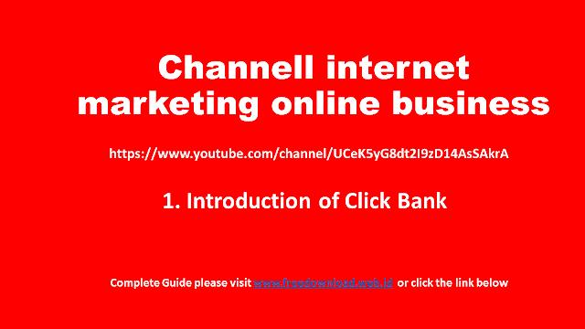 [Belajar Clickbank] hari 1 - Pengenalan Clickbank