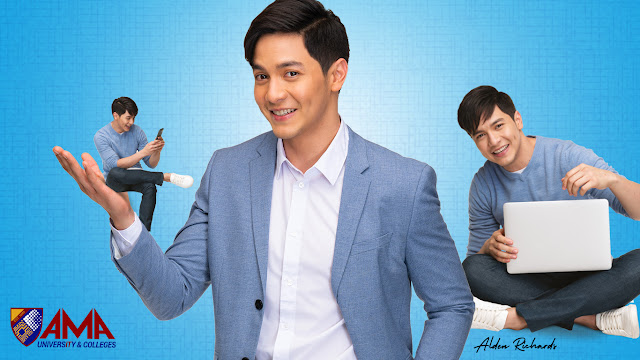 Alden Richards as AMA University and Colleges ambassador