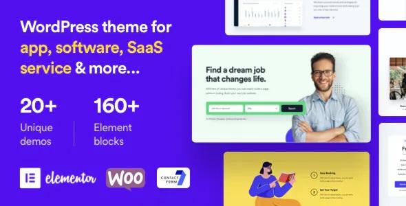 Startup & SaaS Premium WordPress Theme