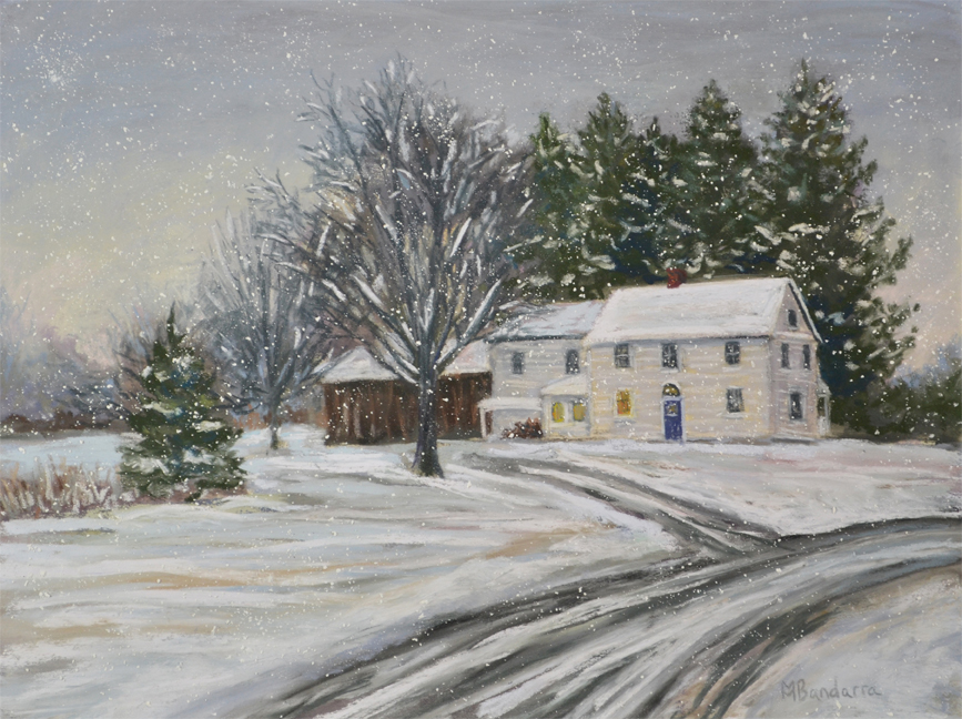 Snow Squall, 8x10 inches