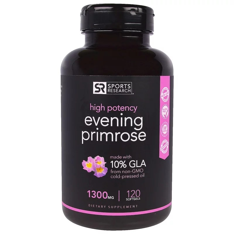 Sports Research, Evening Primrose Oil, 1,300 mg, 120 Softgels