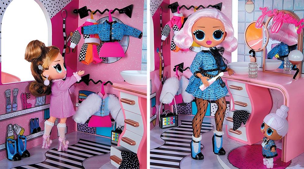 Гардеробная с одеждой для кукол LOL Surprise OMG House