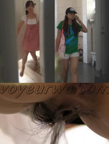 ChinaVoyeur B10-38 (Girls peeing in the common toilet voyeur spy cam videos)