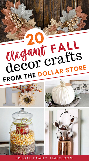 dollar store fall decor crafts