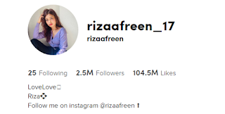 Riza  Afreen TikTok