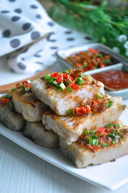 Macam talam berlauk tapi bukan,Inilah Chinese Yam Cake