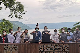 Eddy Keleng Ate Berutu Dampingi Sandiaga Uno ke Kawasan Wisata Danau Toba di Dairi