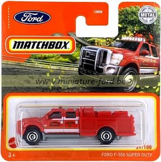 Matchbox, Ford F-550 Super Duty