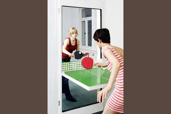 Invenções mais interessantes do mundo - Porta com mesa de pingue-pongue embutida