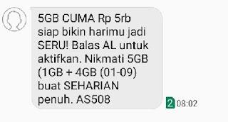 Kuota Internet Tri 5GB Rp. 5000 Seharian Terbaru