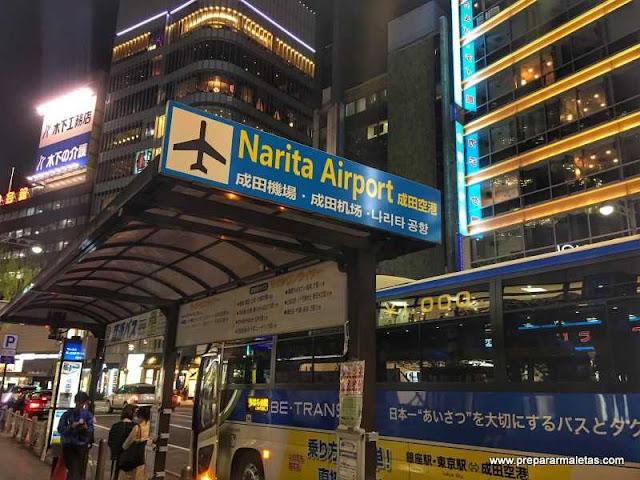 como ir del aeropuerto de tokio al centro en bus
