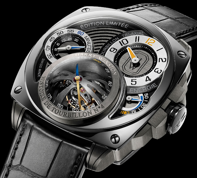 Harry Winston Histoire de Tourbillon 4 Watch close up