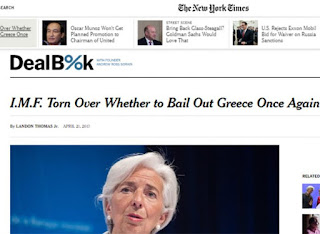 NYT: Διχασμένο ξανά το ΔΝΤ για το αν θα χορηγήσει νέα δάνεια στη σχεδόν χρεοκοπημένη Ελλάδα