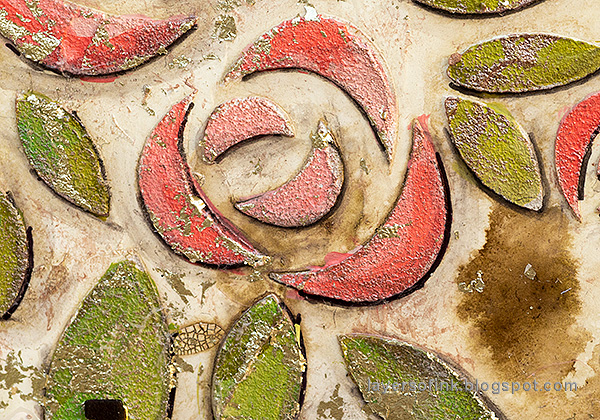 Layers of ink - Roses Mixed Media Panel Tutorial by Anna-Karin Evaldsson.