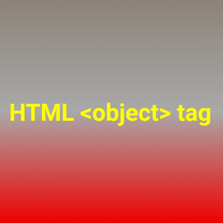 HTML <object> tag