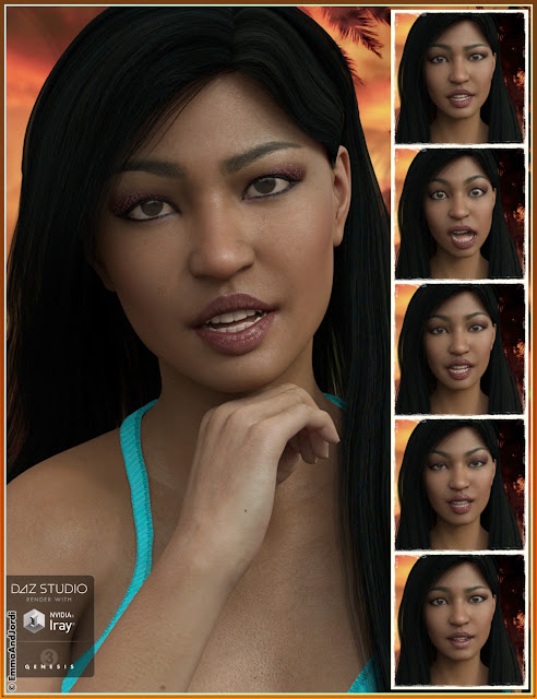Aloha Oukou Mix and Match Expressions for Kalea 7 and Genesis 3 Female