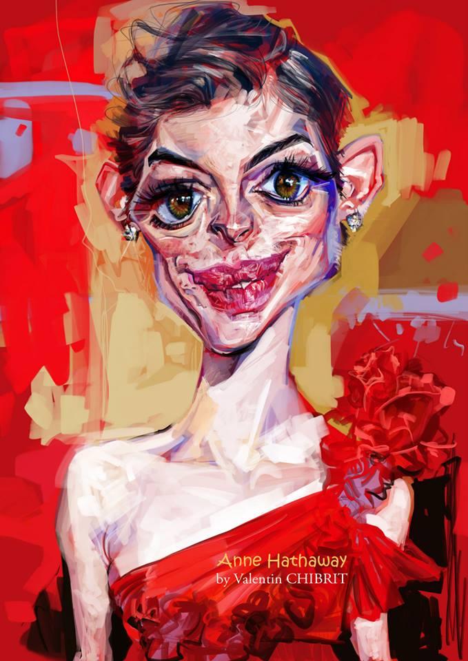Anne Hathaway por Valentin Chibrit