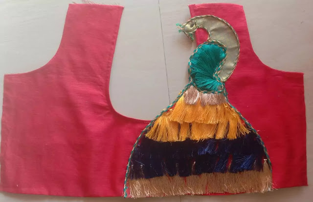 How to make  peacock blouse design