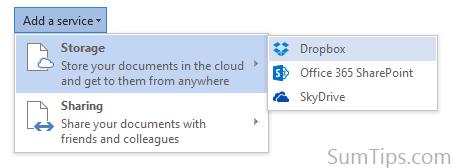 Dropbox Office 2013 cloud service