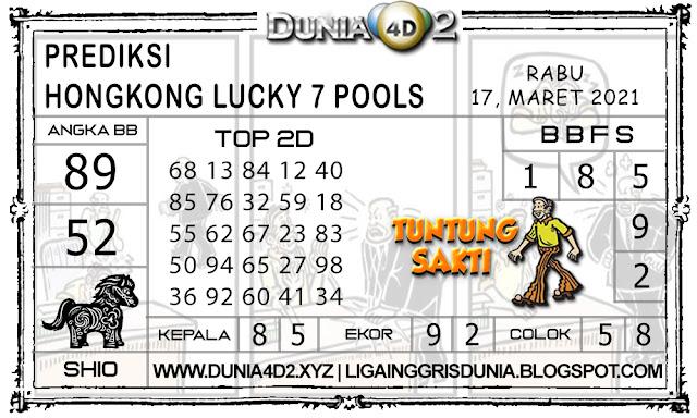 Prediksi Togel HONGKONG LUCKY7 DUNIA4D2 17 MARET 2021