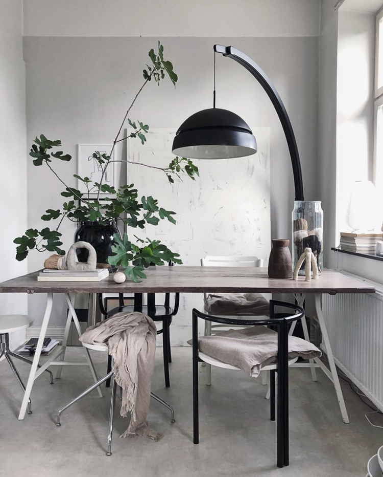 A Monochrome Swedish Home Where Creativity Shines Through