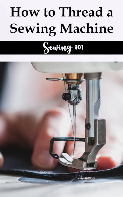 How to thread a sewing machine and bobbin and practice tips.  Also, a simple PDF sewing practice sheets to get your started sewing.