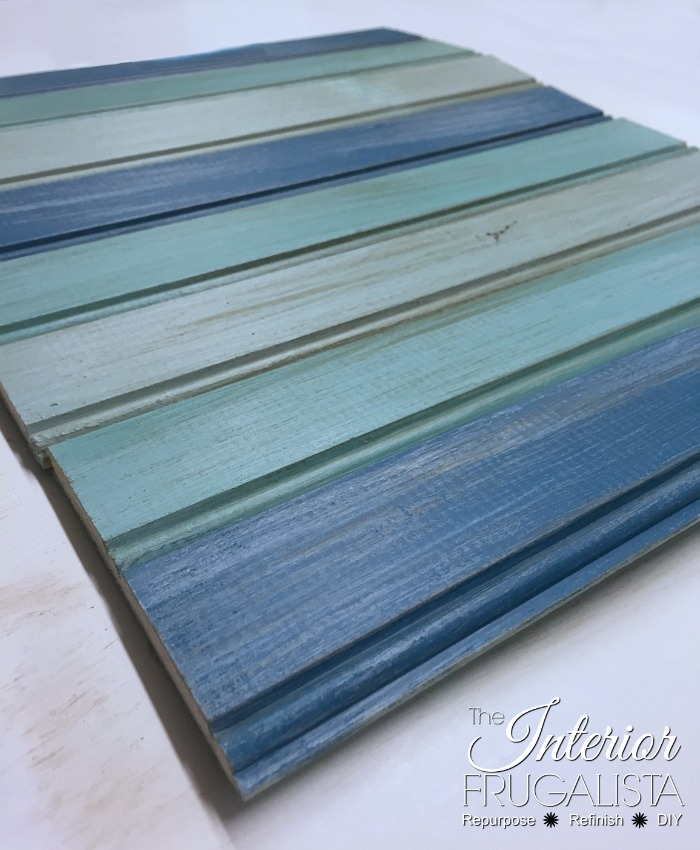 Picture Frame Serving Tray Painted Slats