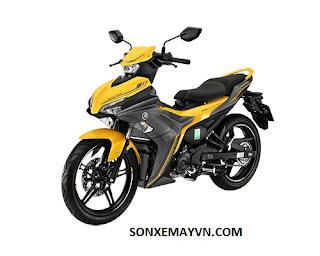 Bán Sơn xe máy YAMAHA EXCITER màu vàng xám - Ảnh 1