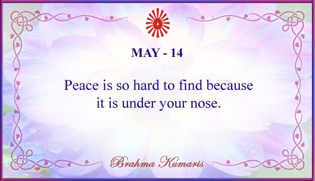 Thought For The Day May 14