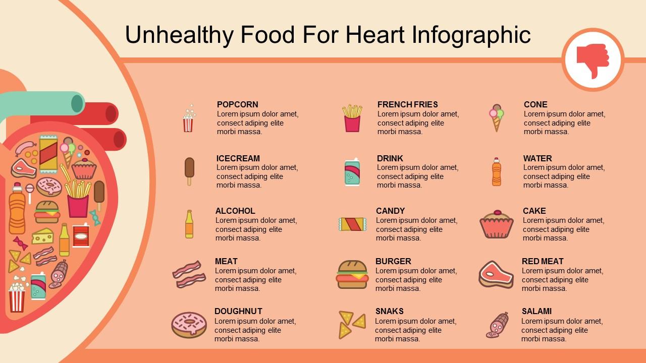 عرض بوربوينت انفوجرافيك للطعام