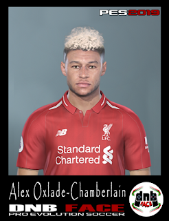 PES 2019 Faces Alex Oxlade-Chamberlain by DNB