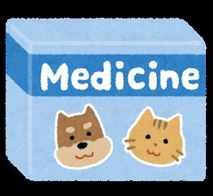動物用の薬のイラスト(犬と猫)