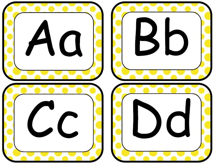 Alphabet Wall Letters Classroom Wall Ideas