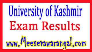 University of Kashmir LLM 1st sem 2014 batch Dec 2015 Exam Results