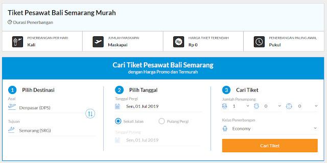Kelebihan Membeli Tiket Pesawat Bali Semarang di Blibli