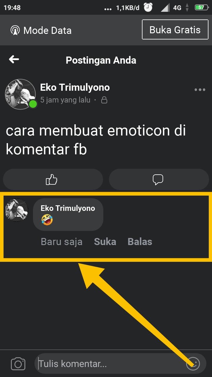 cara menyisipkan emoji di komentar fb