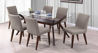 round glass dining table set for