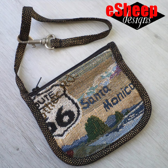 Route 66 Zippered Pouch by eSheep Designs