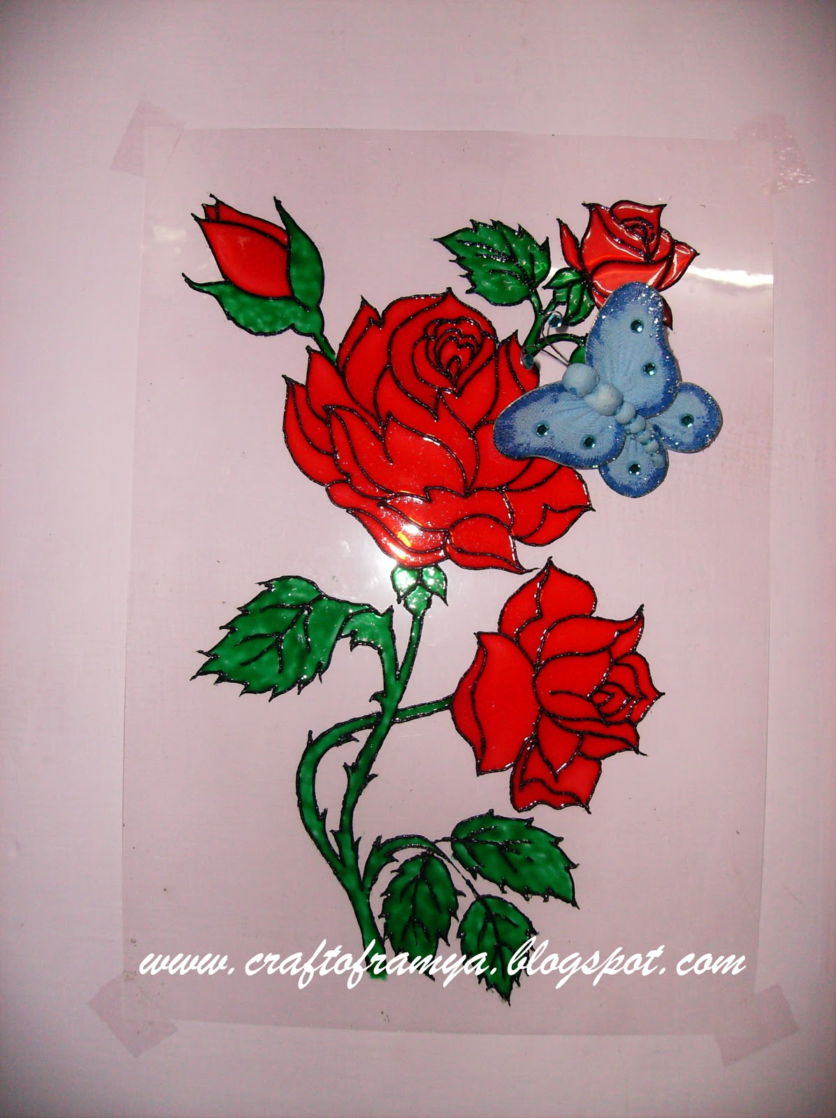 Creative Glass Paint On Plastic Sheet