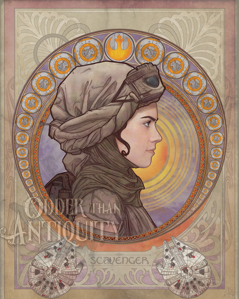 the geeky nerfherder coolart 39 star wars nouveau portraits 39 by odder than antiquity. Black Bedroom Furniture Sets. Home Design Ideas